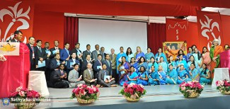 Graduates of the 2015 Sathya Sai International Youth Leadership Programme