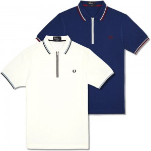 Fred Perry Zip Collar Polo Shirts