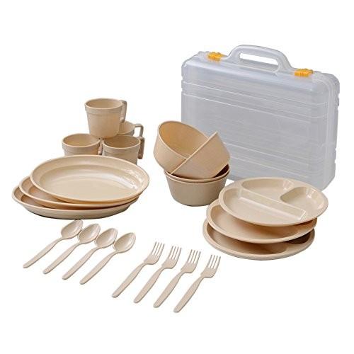 4.キャンパーズコレクション デイパーティー食器セット(4人用6種類) ナチュラル PCW-12(NA)