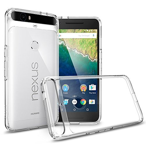 Spigen Nexus 6P ケース, ウルトラ・ハイブリッド 背面クリア