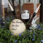 Easter Ostrich Egg Painting and Wine 2015