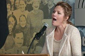 آواز خواندن سوفی گریگور ترودو در مراسم بزرگداشت مارتین لوترکینگ