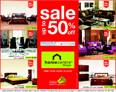 HomeCentre By LifeStyle - Upto 50% Off / New Delhi | SaleRaja