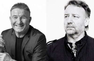 Mike Sweeney and Peter Hook