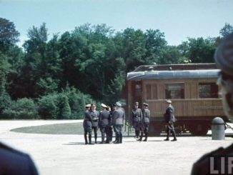 Armistice 1940 . Hitler awaits the surrender of the French