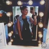 Jag i en så snygg makeupmirror!
