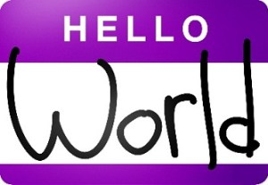 Hello World Name Tag