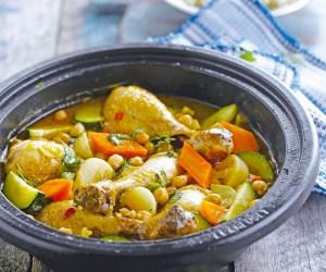 tajine poulet legumes