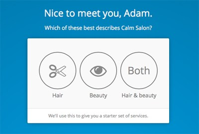 Kitomba k1 Salon Software - What Type Of Business Are you Screen