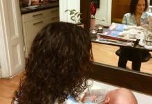 Caisa tillbringade någon timme hos oss i veckan och hade med sig lille sonen