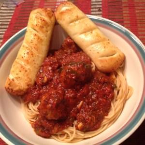 Spaghetti sauce red gravy meatballs