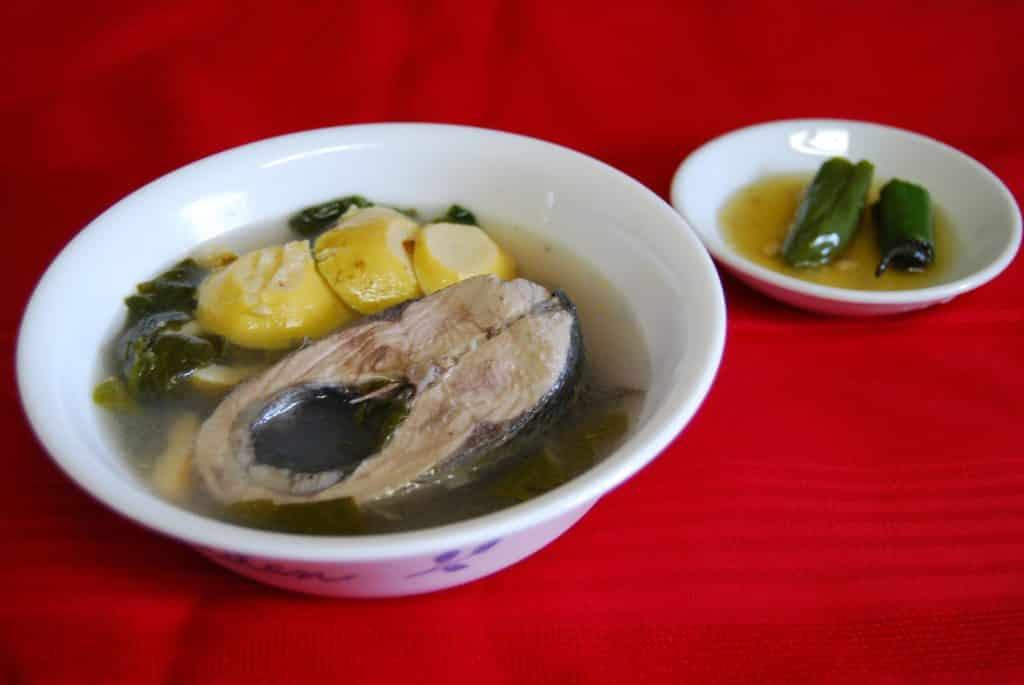 Sinigang na Bangus sa Bayabas (Milkfish in guava soup)