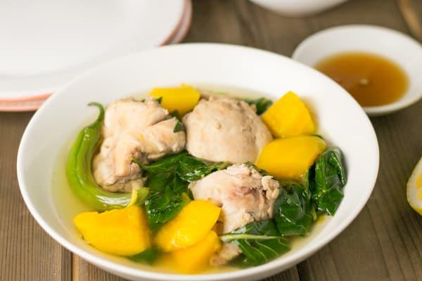 Tinolang Manok Filipino Chicken Soup with Papaya