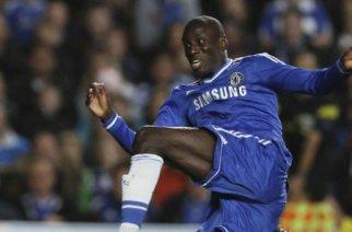 Demba Ba à Stamford Bridge, le 6 novembre 2013. © Alastair Grant/AP/SIPA