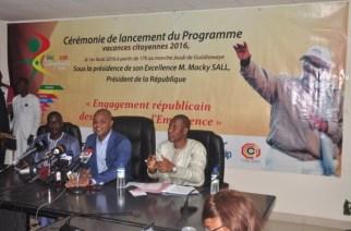 VACANCES CITOYENNES 2016 : Le ministre Mame Mbaye Niang annonce un financement de trois milliards pour la jeunesse