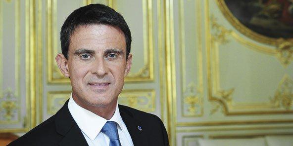 Manuel Valls, le 14 septembre, à Matignon, à Paris. © Vincent Fournier/J.A.