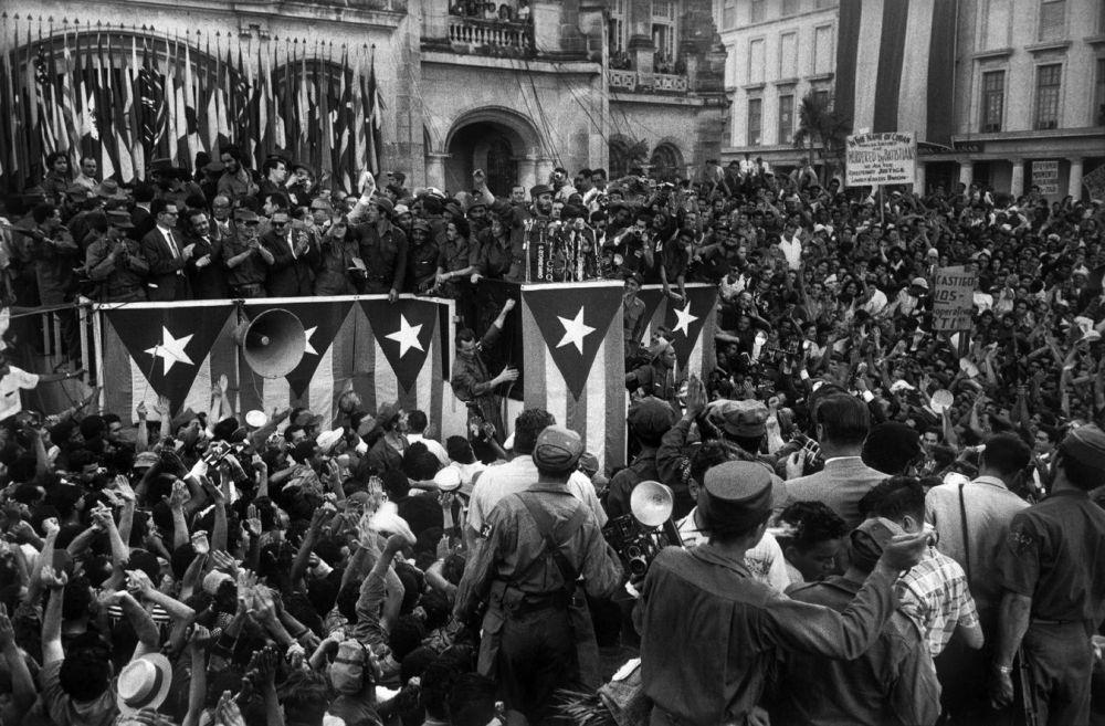 Fidel Castro à La Havane, lors des premiers jours de la libération, en 1959.