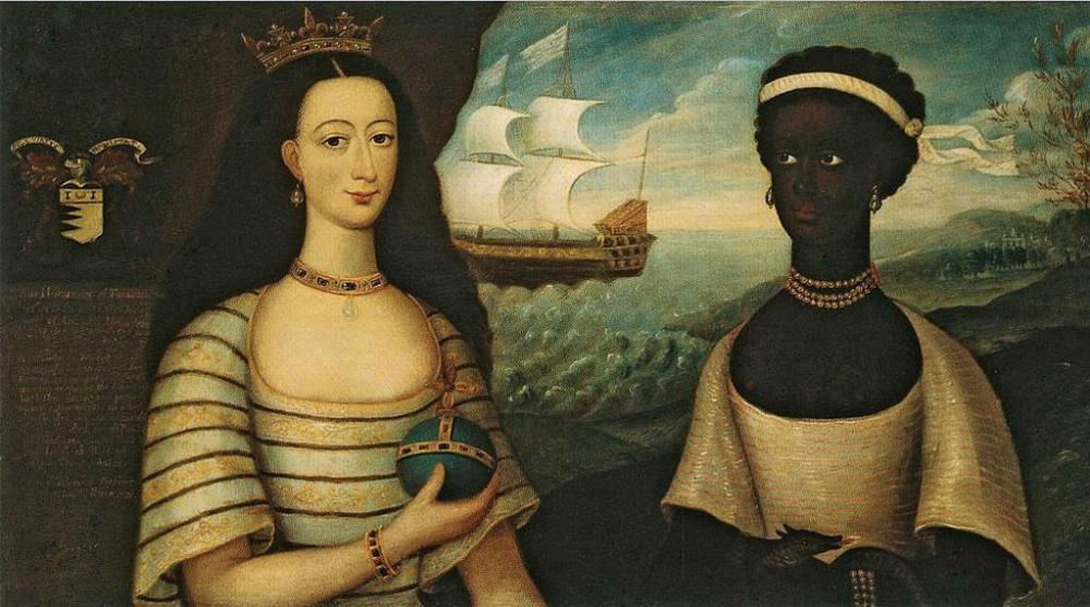 Walter Frier, Portrait of the Princess of Zanzibar with an African Attendant