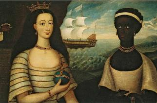 Walter Frier, Portrait of the Princess of Zanzibar with an African Attendant
