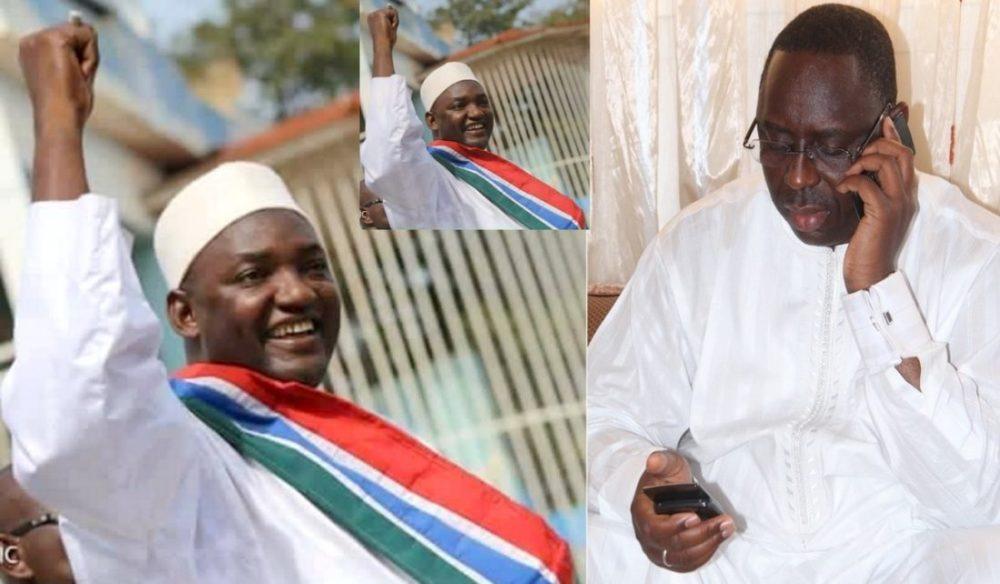 ADAMA BARROW, nouveau Président de la Gambie, Président Macky Sall