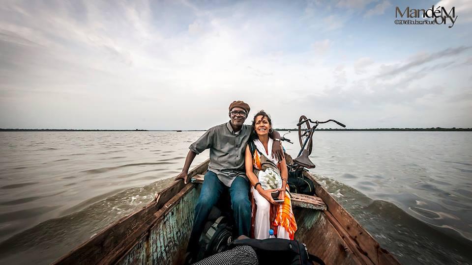 Maru Hernandez et Boubacar Toué Mandémory, voyage à Sandiniéry 2016