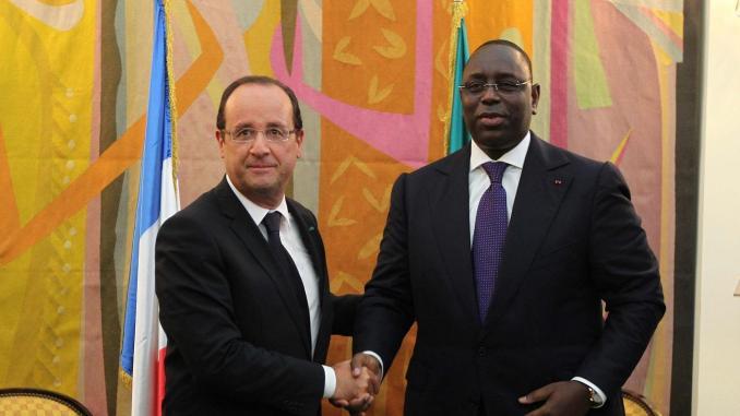 François Hollande et Macky Sall, les deux hommes se sont rencontrés plusieurs fois, mais cette visite d'Etat sonne comme une reconnaissance pour le président sénégalais.