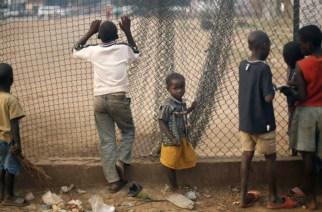 Des enfants dans un camp de réfugiés près de l'aéroport de Bangui, en Centrafrique, janvier 2014 -AP  JEROME DELAY