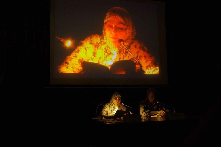 La poétesse marocaine Rachida Madani à Dakar, le 8 janvier 2017. CRÉDITS - BÉNÉDICTE SAMSON SENGHOR