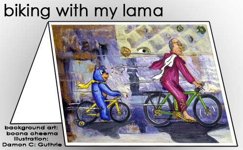 biking with my lama