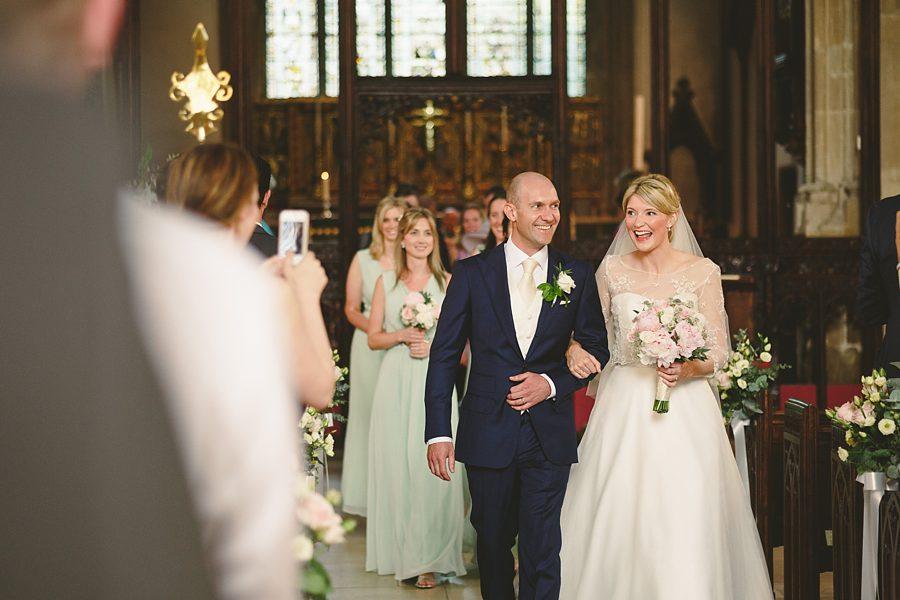 Cirencester parish church wedding