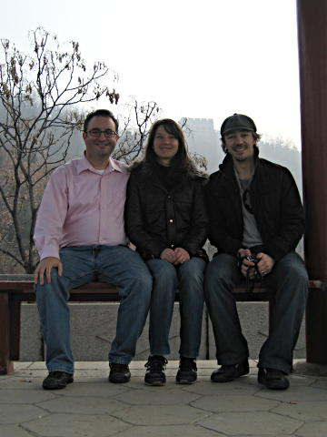 Me, Sharon, and Mark at Great Wall of China at Mutianyu