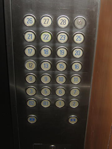 Chinese elevator buttons