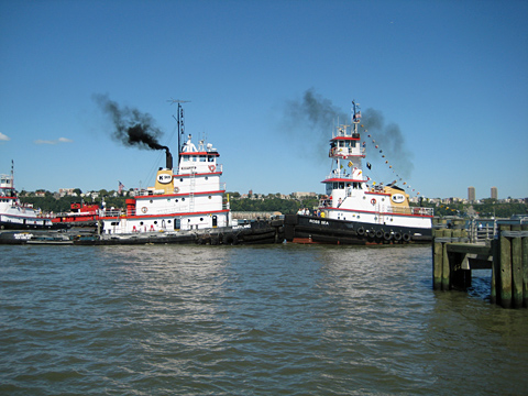 Tugboat pushing contest on the Hudson River