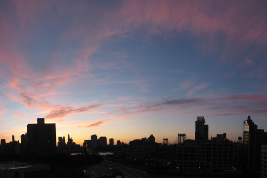 Sunset in Brooklyn Heights