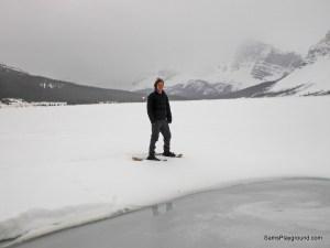 Snowshoeing Bow Lake