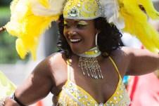 Carafiesta parade women in yellow
