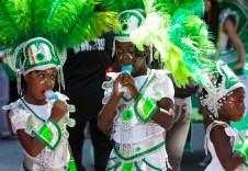 Carafiesta parade kids in green
