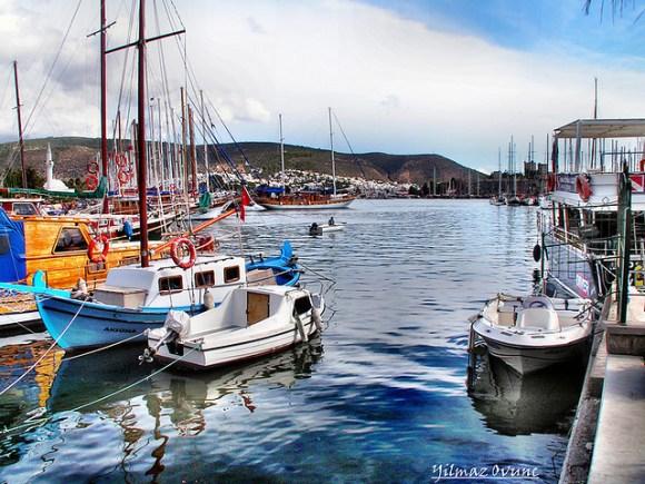 Bodrum, Turkey marina photograph