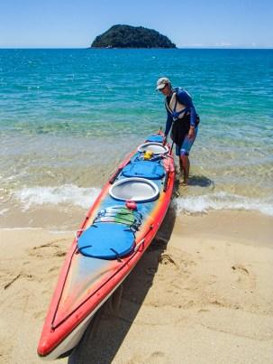 Arriving at Tonga Quarry Beach