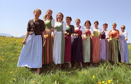 Dirndl traditional Bavarian dress