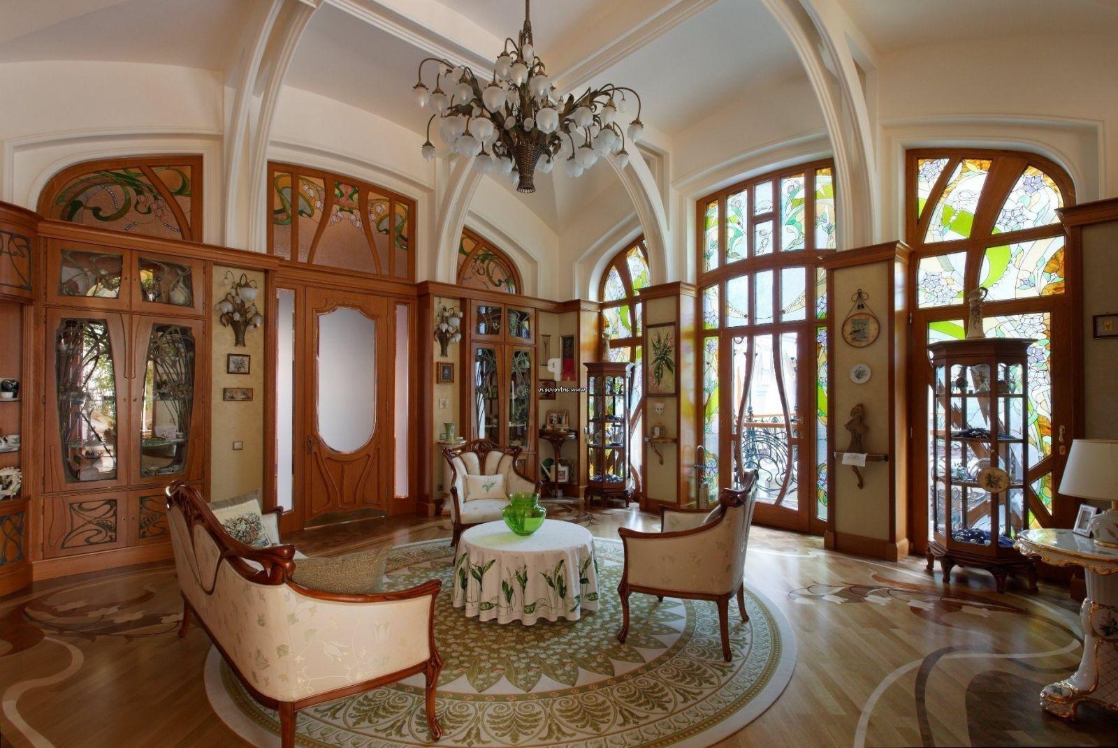 Art Nouveau Estilo De Arte De Dise O De Interiores  ~ Decoracion Modernista Interiores