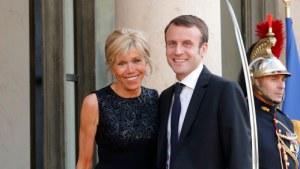 Ung president med mer erfaren hustru vid sin sida