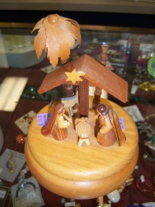 Photo of Nativity music box made in Germany.