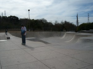 Photo of skateboarders at Lady Bird Johnson Park.