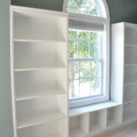 DIY Built-in Bookshelves + Window Seat