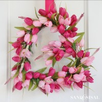 Tulip Heart Valentines Wreath