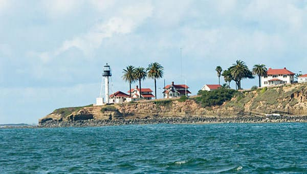 Point Loma Lighthouse Seen During Burial at Sea