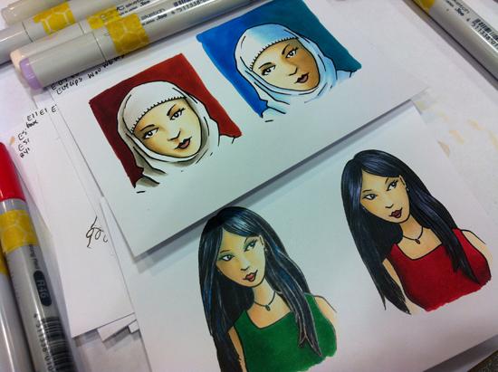 Sandy Allnock - ethnic coloring
