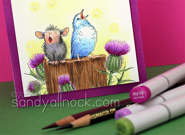 Sandy Allnock Copic Coloring Birds n Mice