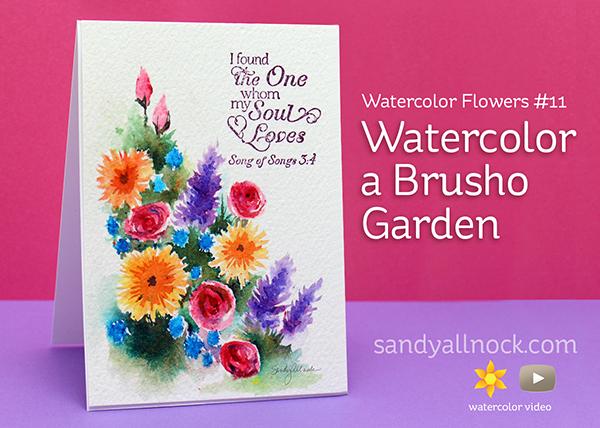 Sandy Allnock - Watercolor Brusho Garden